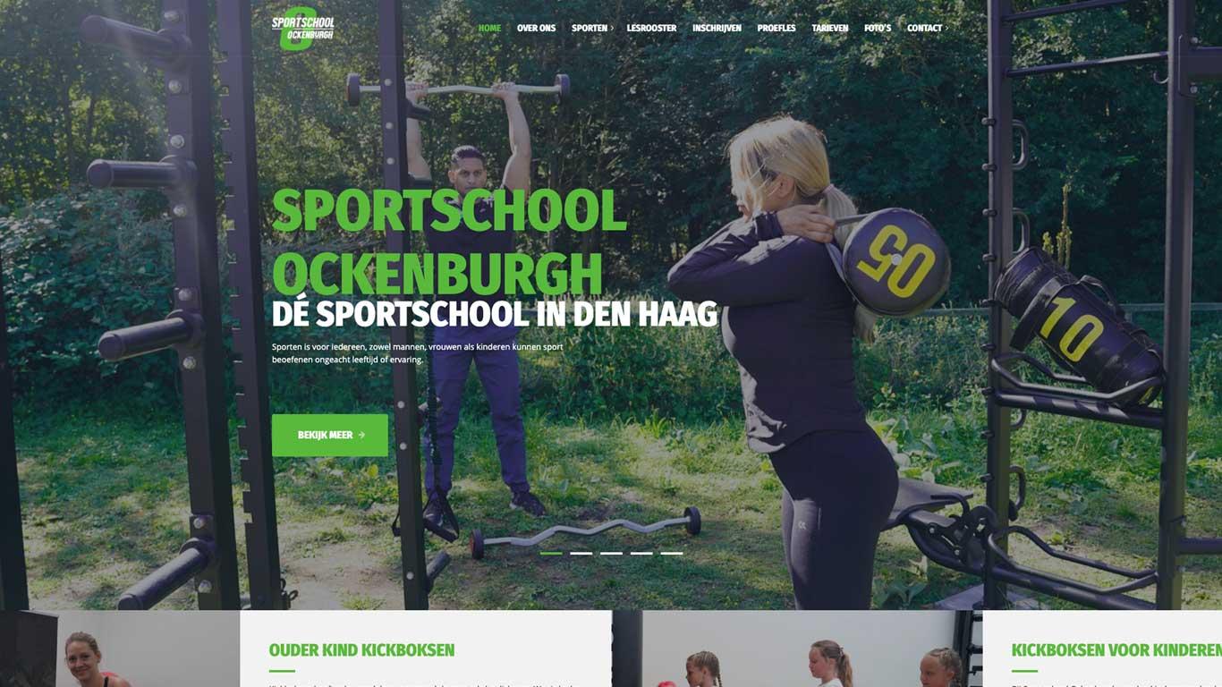 Mockup nieuwe website Sportschool Ockenburgh Den Haag